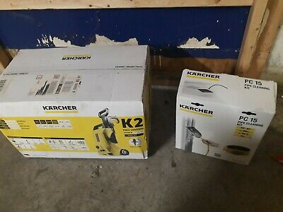 Karcher K2 Compact Home & Car Pressure Washer 110 bar plus PC15 pipe cleaning ki