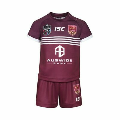Queensland Maroons State of Origin 2019 On Field Jersey Toddlers Sizes 0-4!
