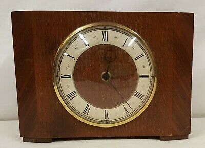 Vintage Smiths 30 Day Wooden Mantel Clock