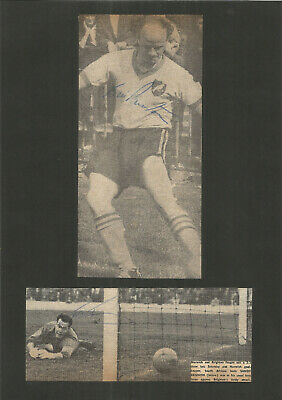 Football Autographs Sandy Kennon, Bill Punton Signed Newspaper Photographs F1192