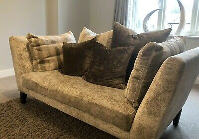 Stunning Ex Show Home John Lewis Grey Velvet Sofas With Cushions