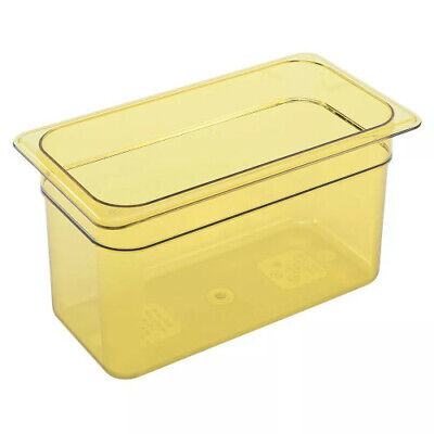 "Cambro 36HP150 H-Pan 6"" Deep Amber High Heat Hot Food Pan 1/3 Size (6 per case)"