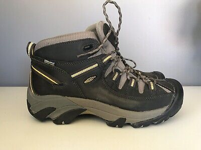 7f2e3b5c65e KEEN MEN'S TARGHEE II Mid WP Black Olive yellow Boots 1002375 ...