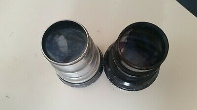 Two 2 Lenses Anamorfiche Objectives for Projectors Films 35 MM