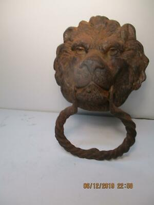 Vintage Cast Iron Door Knocker - Lion's Head