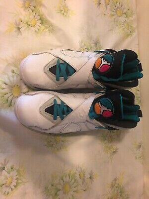 cbd4290de4f Air Jordan 8 Retro 'South Beach' White Turbo Green 305381-113 Men's Size