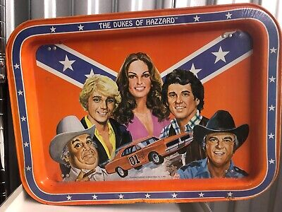 Dukes of Hazzard Warner Brothers Metal TV Lap Tray Vintage Collectible 1981