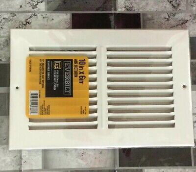 EVERBILT 10 IN  x 6 in  3-Way Wall/Ceiling Register - $7 90