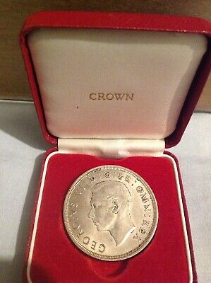 1937 Crown - George Vi British Silver Coin