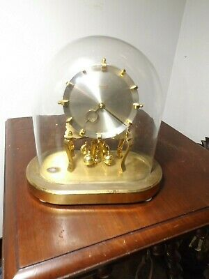 Vintage 1960's KUNDO Glass Dome 400 Day Anniversary table Clock Runs But Fast