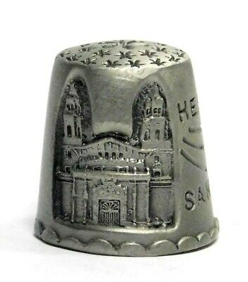 Etched Hearst Castle San Simeon Ca. Pewter Thimble