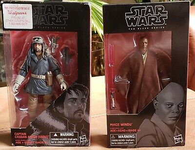 Star Wars The Black Series Mace Windu and Captain Cassian Andor(EADU) 6 Inch