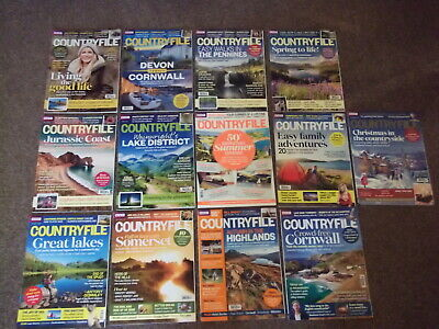 13 Bbc Countryfile Magazines Jan-Dec 2015 + Countryfile Summer Special Magazine