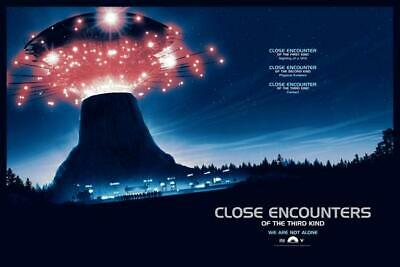 "MATT FERGUSON Close Encounters of the Third Kind Poster FOIL VARIANT ""Have You.."