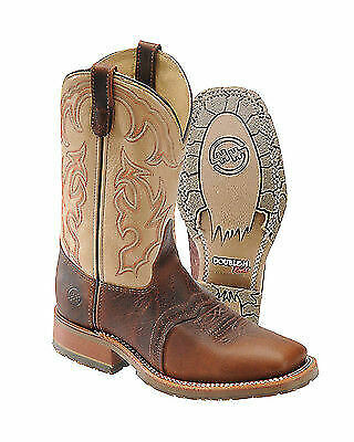 c2b12ae3713 MENS DOUBLE-H DH5305 USA Square Steel Toe Western Work Boots 11.5 EE ...