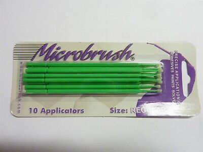 Closeout! Set of 10 Microbrush Glue, Paint Applicators, Green
