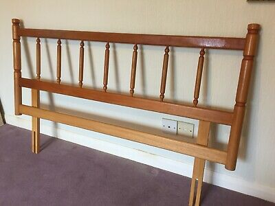 "Solid Antique Pine Headboard for 4'6"" Double Bed"