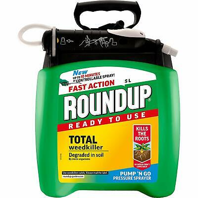 Roundup Scotts Miracle-Gro Fast Action Weedkiller Pump Go Ready To Use Spray 5 L
