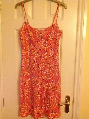 Marks and Spencer pink floral mix strappy dress size 10