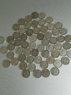 60 Collectable .500 silver George V & VI Threepences