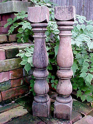 Antique Victorian Oak Baluster Spindle Stressed Rustic Shabby Chic Architectural