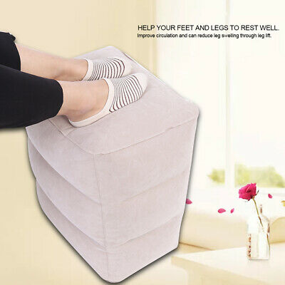 Portable Air Inflatable Footrest Travel Pillow Relax Footstool Airplane Rest