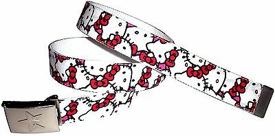 Hello Kitty & Friends BELT + Buckle Sanrio Surprise Pink Red Cute Girl Rare New