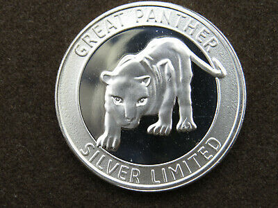 1 oz Silver Art Round Great Panther Silver Limited .999 Fine Silver TSX.GPR