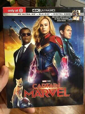 Captain Marvel 4K UHD, Blu-ray, Digital Target Exclusive 40 Page Digibook New