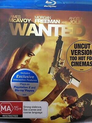 WANTED (Angelina Jolie) - BLURAY 2008 AS NEW!