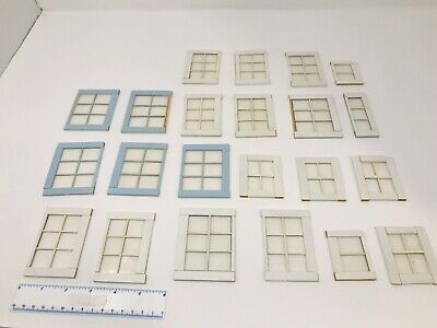 Lot Wooden Vintage Dollhouse Windows Doll House Different Sizes