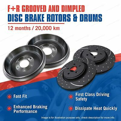 RDA Front + Rear Slotted Brake Rotors Drums For Holden Colorado RG 2WD 4WD 11-on