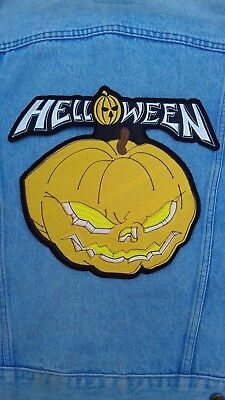 2f4a3c05 Helloween pumpkin embroidered back patch power metal gamma ray blind  guardian