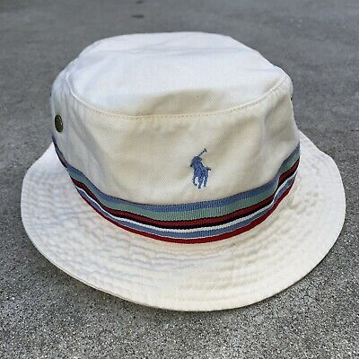 8841a51d Vintage Polo Ralph Lauren Bucket Hat Ribbon Horse Pony Cap Polo Sport Bear