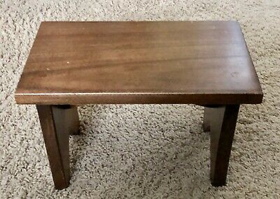 Antique Vintage Handmade Walnut Wood Foot Child's Step Stool Primitive Country