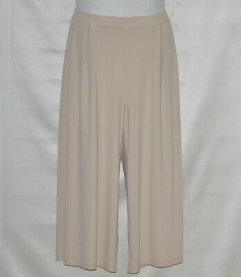 Linea by Louis Dell'Olio Moss Crepe Gaucho Pants Size S Light Tan