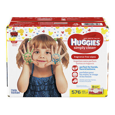 Huggies Simply Clean Baby Wipes, Unscented (Choose Your Count)