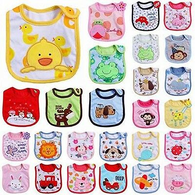 WO_ Newborn Toddler Infant Baby Boy Girl Cartoon Bibs Waterproof Saliva Towel Go