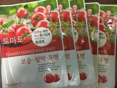 [Natureby] Tomato Essence Mask Sheet [ 5 Pack ]