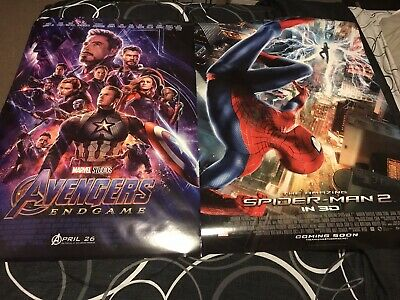 Avengers Endgame & The Amazing Spider-Man 2 Original DS Posters 27 X 40