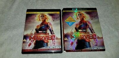 Captain Marvel 4K UHD Disc with Case, Art + Slipcover *NO Blu-ray/Digital-Code