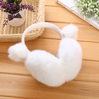 Women Lovely Cat Ear Cache Warmer Bowknot Soft Fluffy Earmuffs  Gifts uk