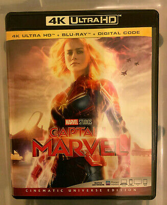 CAPTAIN MARVEL 4K ULTRA HD BLU RAY 2 DISC SET + SLIPCOVER *free shipping*