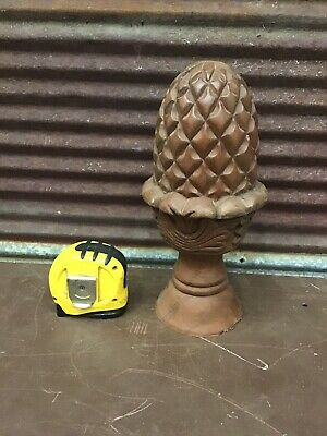 💥 WOW Gorgeous Antique Large Wood Carved Pineapple Finial Natural Architectural