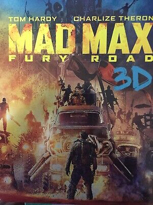 MAD MAX - FURY ROAD - 3D BLURAY + BLURAY Steelbook Packaging 2015 AS NEW!