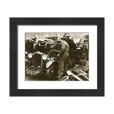 """14171318 23""""x19"""" (58x48cm) Framed Print Firemen and mechanic with..."""