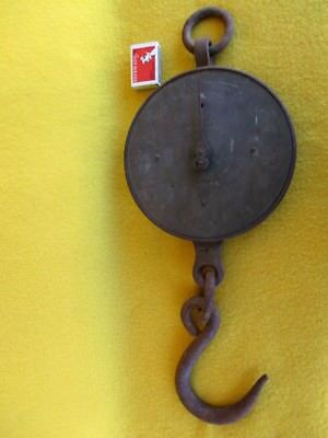 Vintage Antique Cast Iron Scales Salters Large Silvesters Patent Decor Hang Old