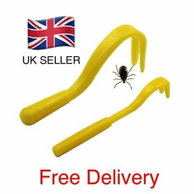 Tick Lice/Tick Remover Removal Tool x2 Sizes Pack Dog Cat Horse Puppy Human