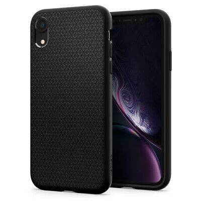 iPhone XR Case, Spigen Liquid Air Cover Case - Matte Black