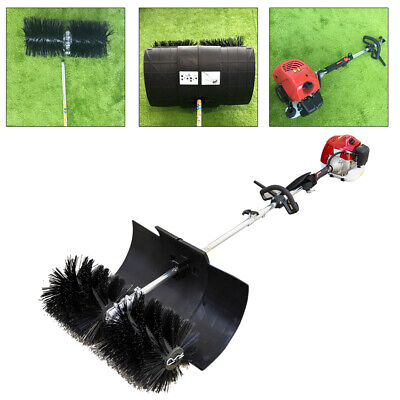 52Cc Gas Powered Sweeper Broom Hand Held Concrete Cleaning Driveway Walk Behind